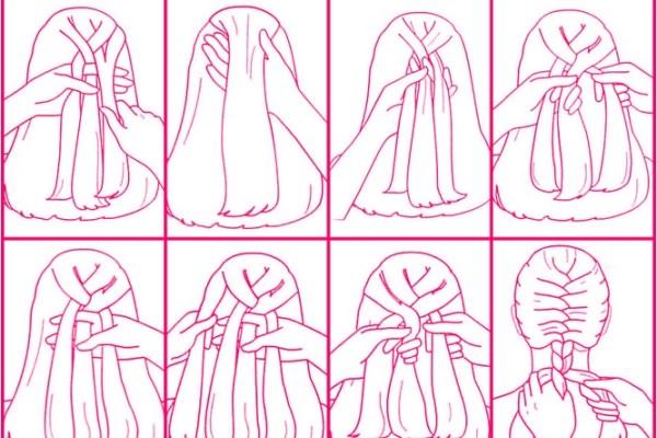 آموزش تصویری انواع بافت مو | بافت مو دخترانه
