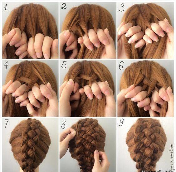 آموزش تصویری مدلبافت مو پنج تایی