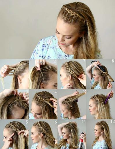 آموزش تصویری مدلبافت مو تلی