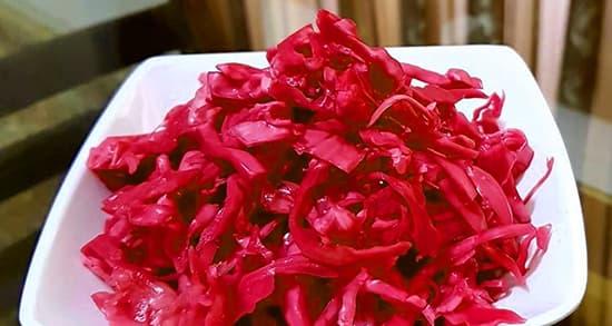 طرز تهیه ترشی کلم قرمز